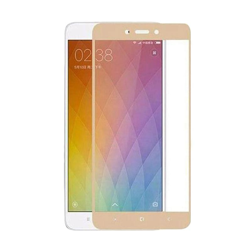 VR Tempered Glass Full Screen Protector for Xiaomi Redmi Note 4 - Gold [Anti Gores Kaca/ Only Front]