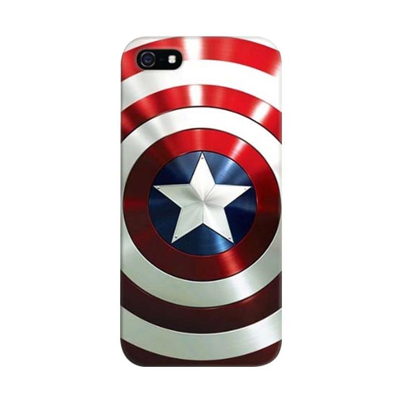 Indocustomcase Captain America Shield SL Custom Hardcase Casing for Apple iPhone 5/5S/SE