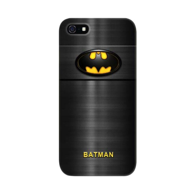 Indocustomcase Batman Logo Carbon Custom Cover Hardcase Casing for Apple iPhone 5/5S/SE