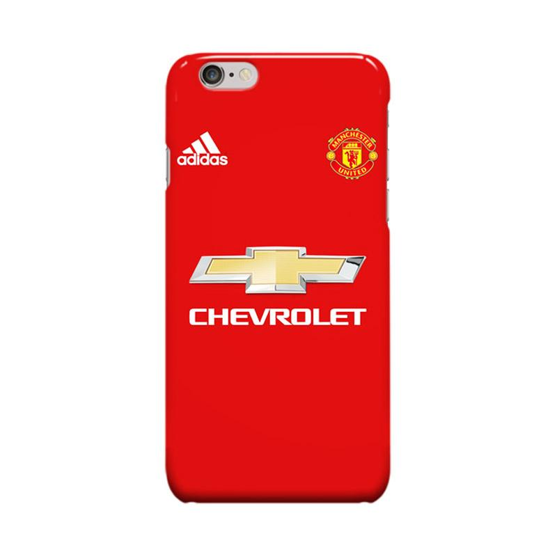 Indocustomcase Menchester United Jersey Casing for Apple iPhone 6 Plus or 6S Plus