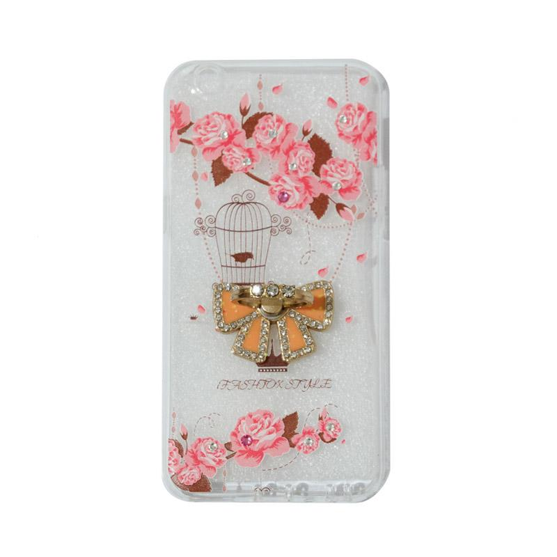 VR Softshell Swarovski Bird 5 Ultrathin Silicone Softcase with Ring Stand Diamond Casing for Oppo A39