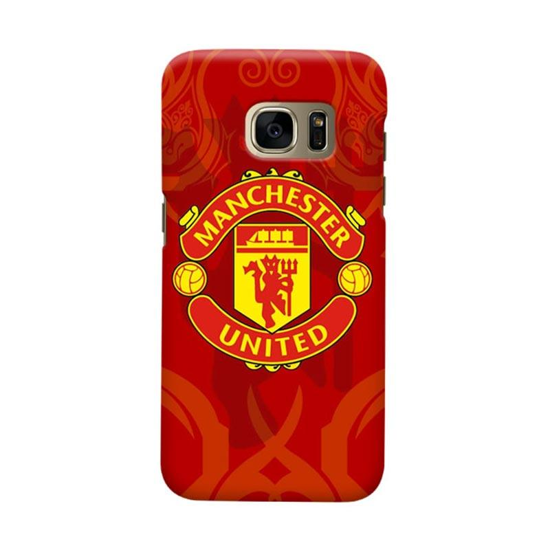 Indocustomcase Manchester United MANUFC10 Cover Casing for Samsung Galaxy S6 Edge