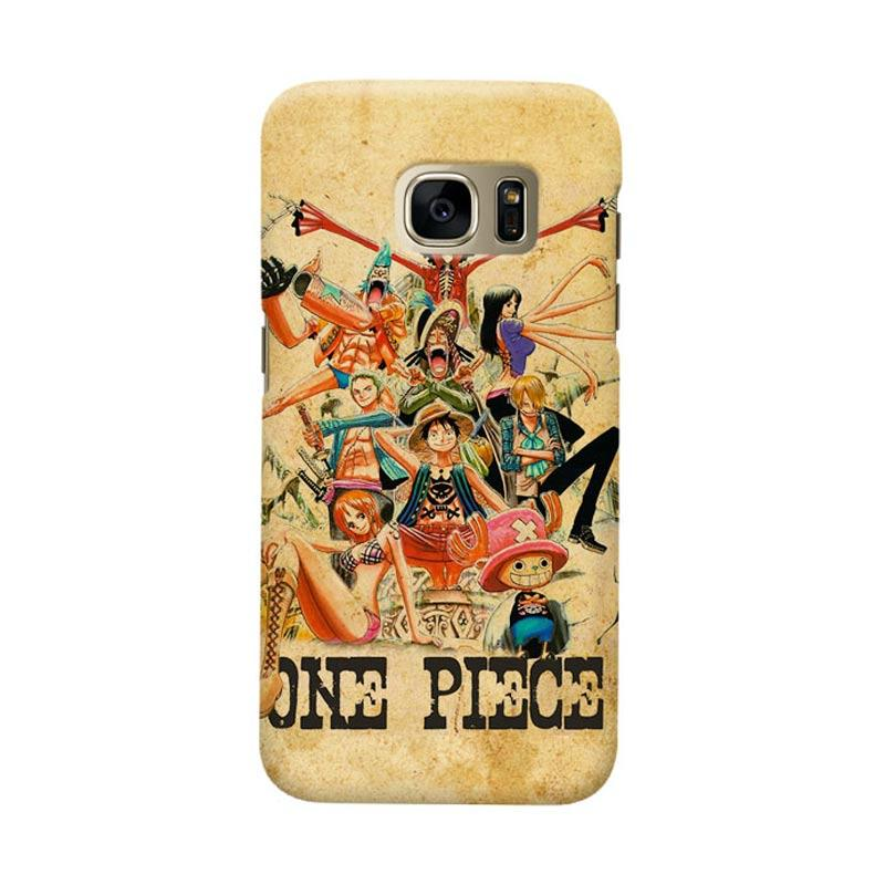 Indocustomcase Anime One Piece Character OP13 Luffy Cover Casing for Samsung Galaxy S7