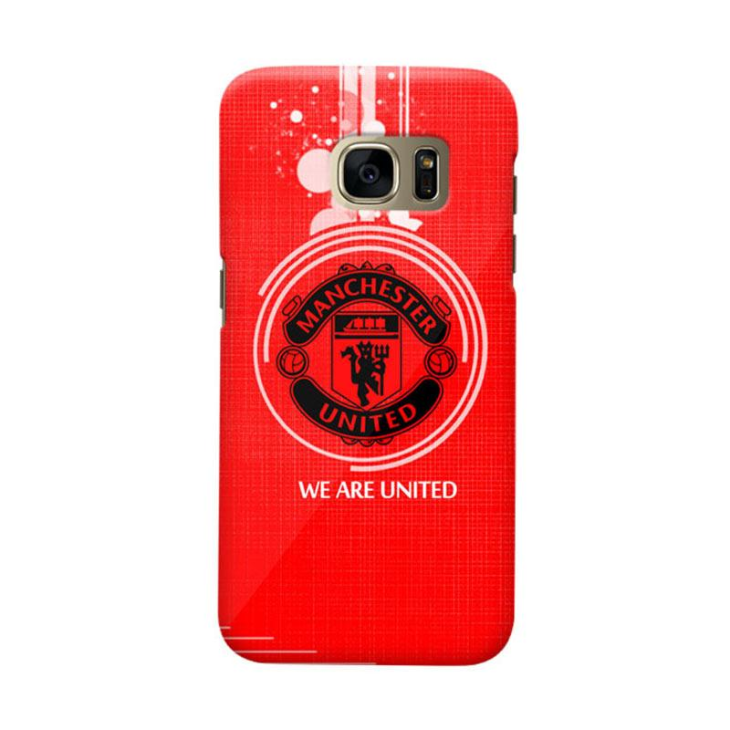 Indocustomcase Manchester United MANUFC11 Cover Casing for Samsung Galaxy S7 Edge
