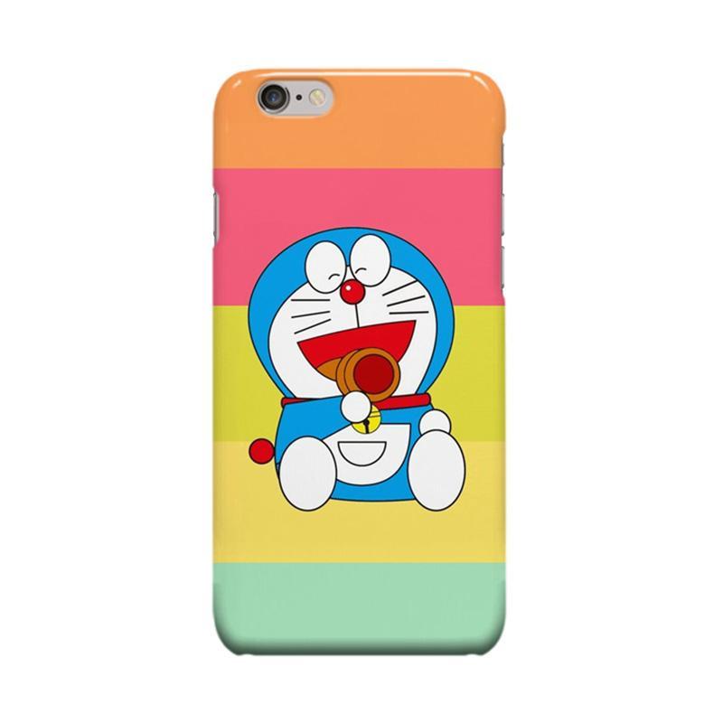 Indocustomcase Cartoon Doraemon Rainbow Cover Casing for Apple iPhone 6 Plus or 6S Plus