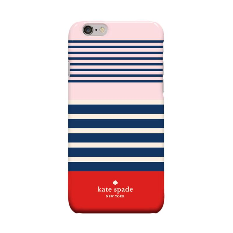 Indocustomcase Kate Spade Stripe KS04 Cover Casing for Apple Iphone 6 Plus or 6S Plus