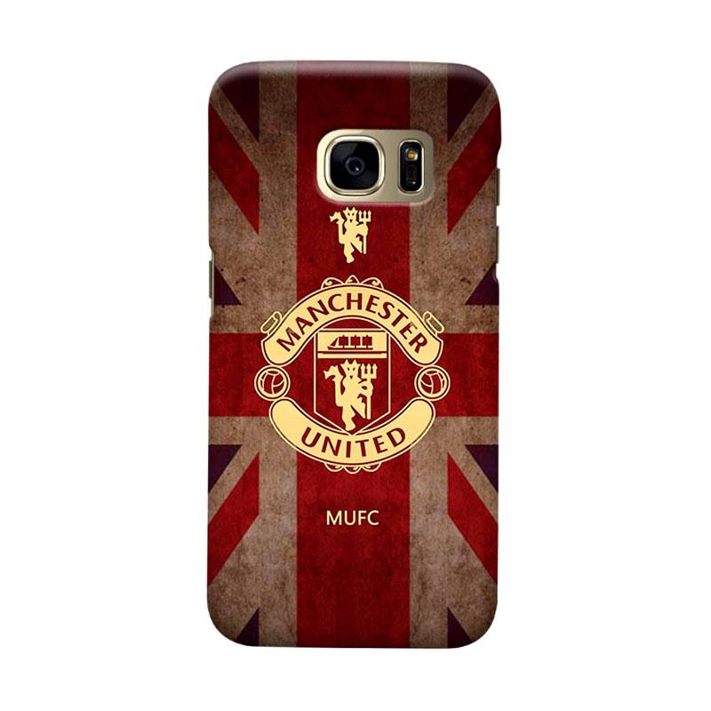 Indocustomcase Manchester United MANUFC02 Cover Casing for Samsung Galaxy S7 Edge