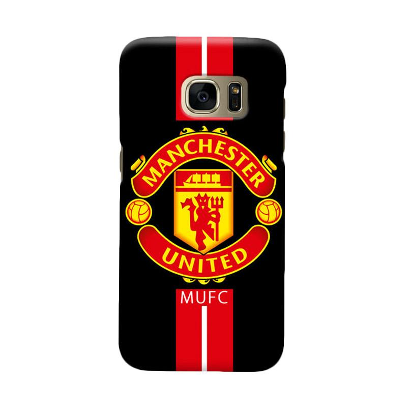 Indocustomcase Manchester United MANUFC03 Cover Casing for Samsung Galaxy S6 Edge