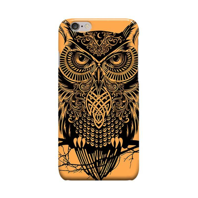 Indocustomcase Tribal Warrior Owl Cover Casing for Apple iPhone 6 Plus or 6S Plus