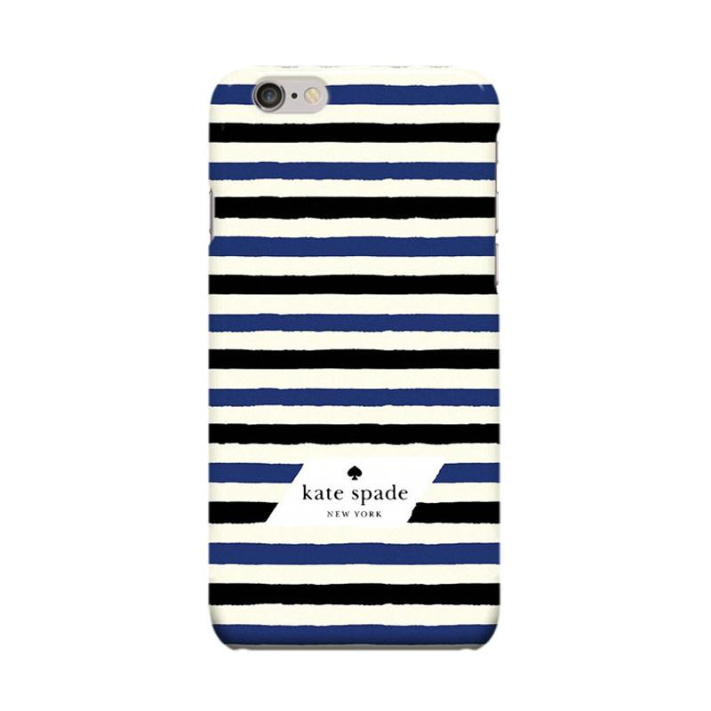 Indocustomcase Kate Spade Stripe KS05 Cover Casing for Apple Iphone 6 Plus or 6S Plus