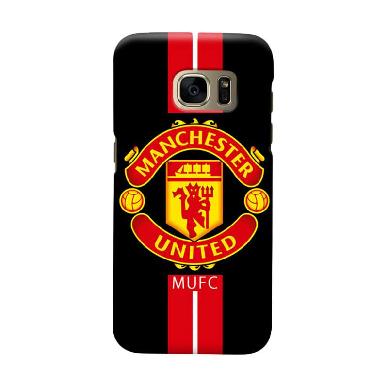 Indocustomcase Manchester United MANUFC03 Cover Casing for Samsung Galaxy S7 Edge