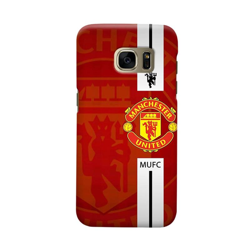Indocustomcase Manchester United MANUFC04 Cover Casing for Samsung Galaxy S6 Edge