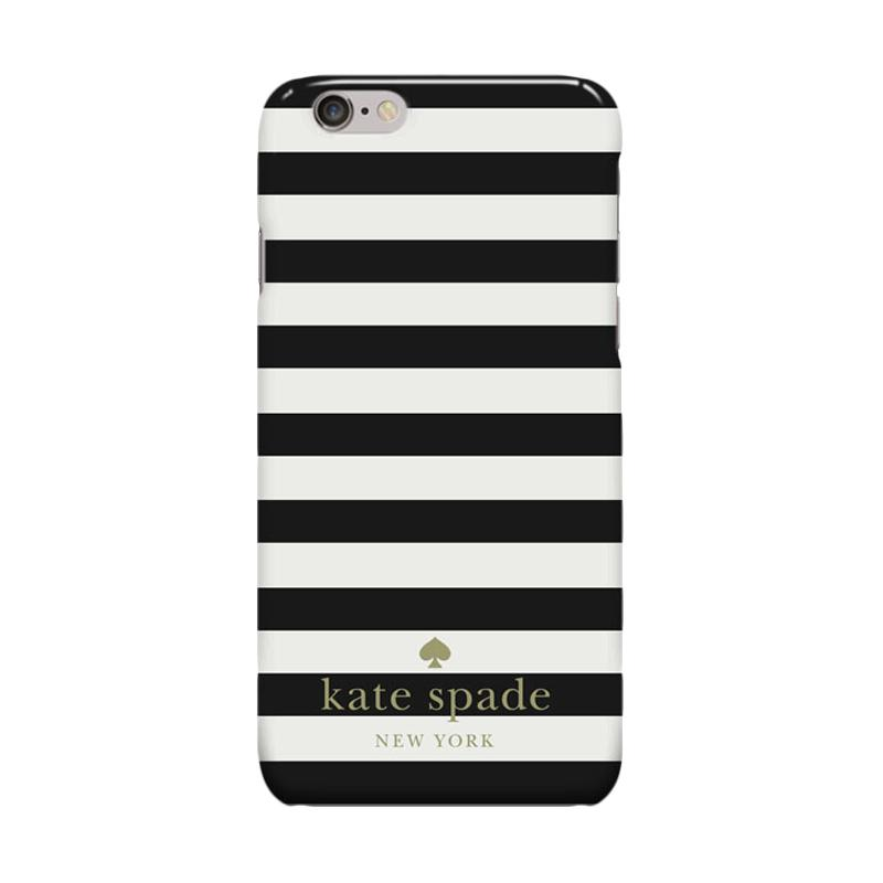 Indocustomcase Kate Spade Stripe KS06 Cover Casing for Apple Iphone 6 Plus or 6S Plus