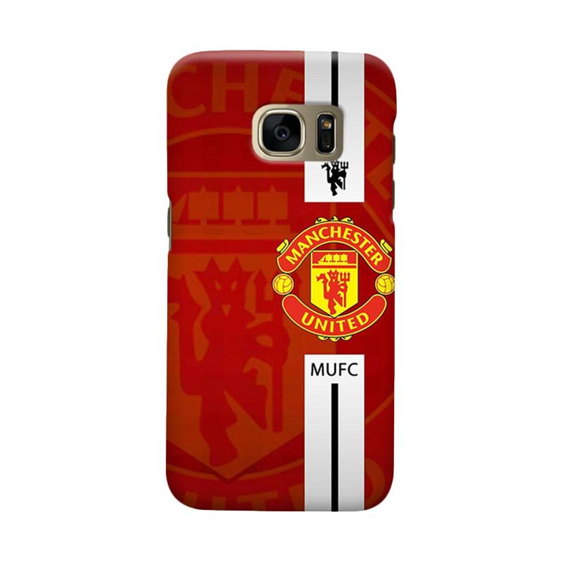 Indocustomcase Manchester United MANUFC04 Cover Casing for Samsung Galaxy S7 Edge
