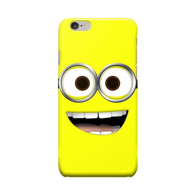 Indocustomcase Cartoon Minions Loughing Casing for Apple iPhone 6 Plus or 6S Plus