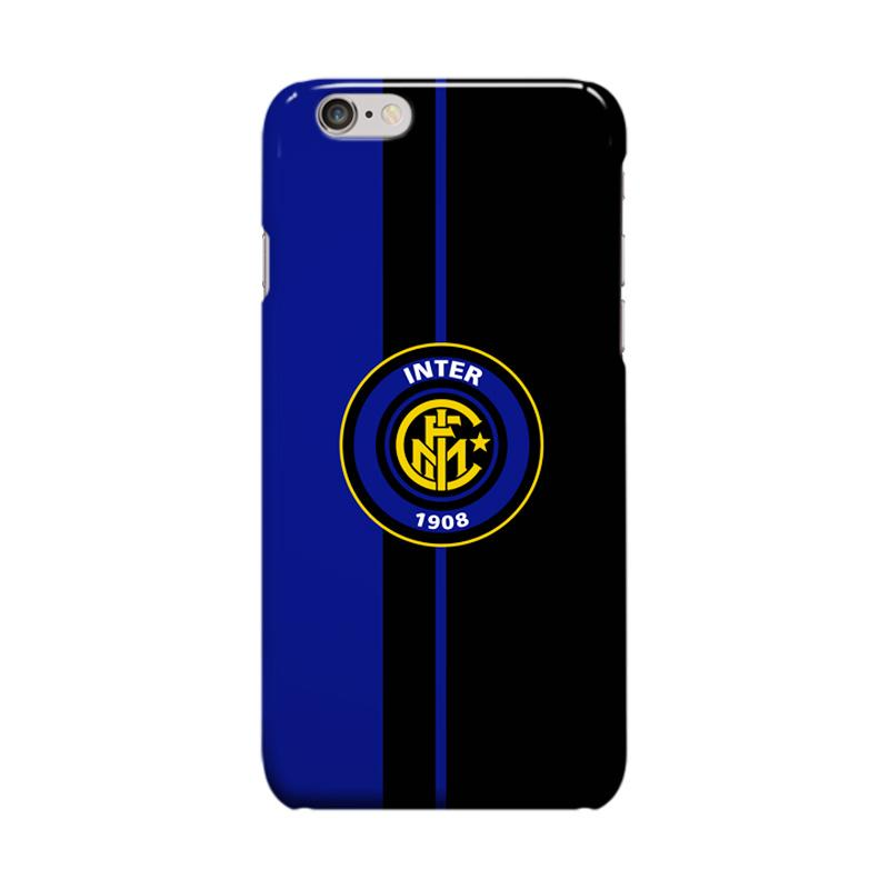 Indocustomcase Inter Milan FC Logo IM10 Cover Casing for Apple iPhone 6 Plus or 6S Plus
