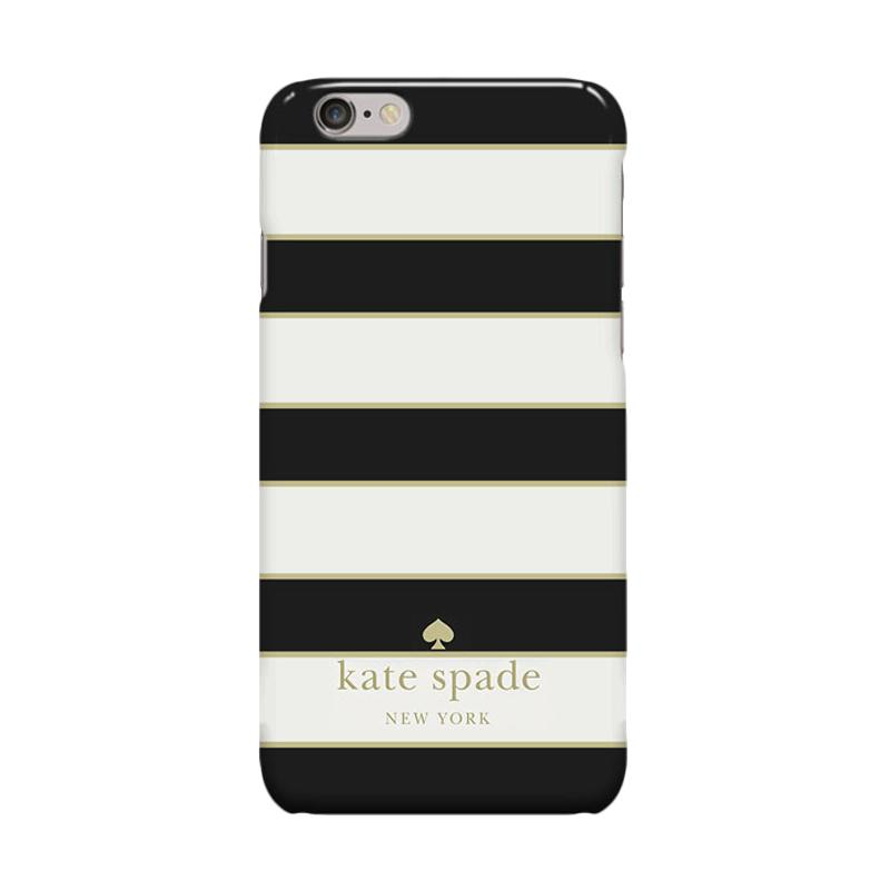Indocustomcase Kate Spade Stripe KS07 Cover Casing for Apple Iphone 6 Plus or 6S Plus