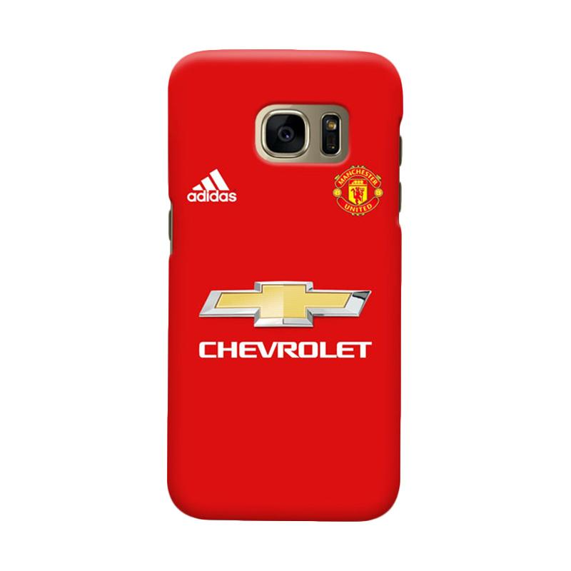 Indocustomcase Manchester United MANUFC05 Cover Casing for Samsung Galaxy S7 Edge