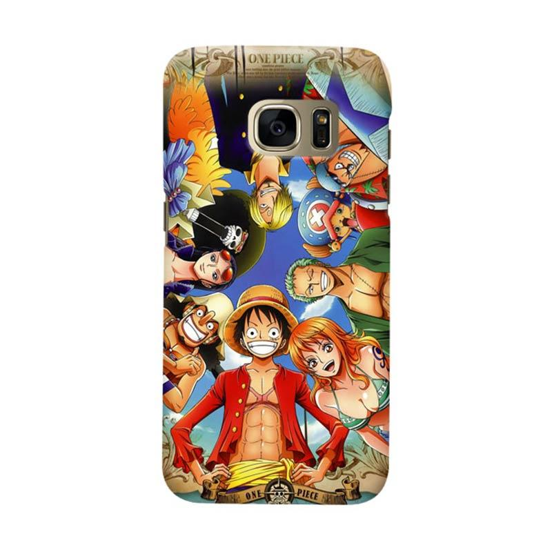 Indocustomcase Anime One Piece Character OP01 Cover Casing for Samsung Galaxy S7 Edge