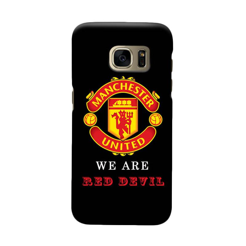 Indocustomcase Manchester United MANUFC06 Cover Casing for Samsung Galaxy S7 Edge