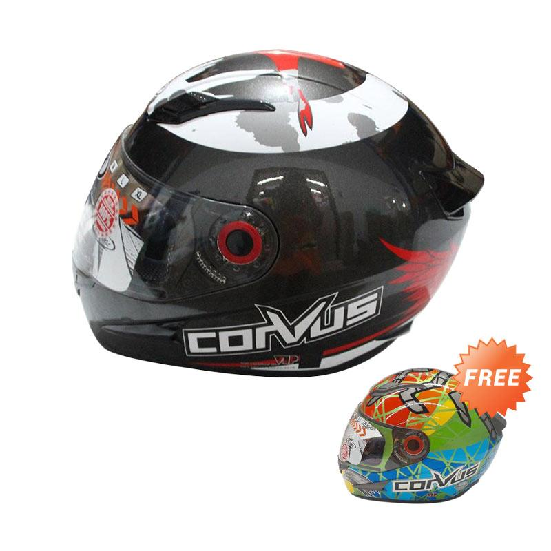 Promo CORVUS 99 Flanker Gunmet Helm Full Face - Red [L] + Free CORVUS S Helm Full Face - Green Rainbow L Extra diskon 7% setiap hari Extra diskon 5% setiap hari Citibank – lebih hemat 10%