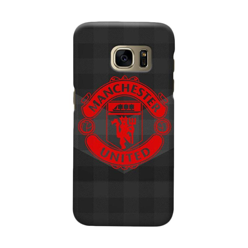 Indocustomcase Manchester United MANUFC07 Cover Casing for Samsung Galaxy S7 Edge
