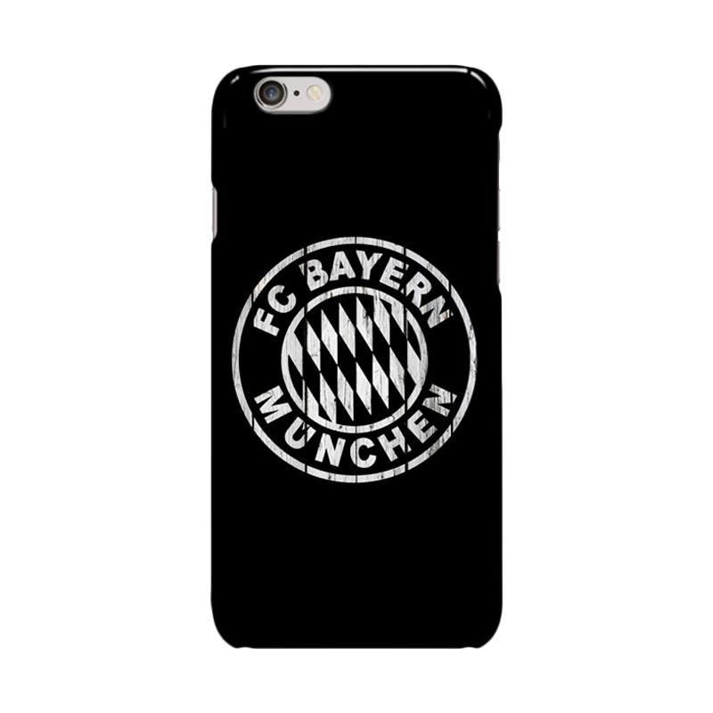 Indocustomcase Bayern Munchen FC Cover Casing for Apple iPhone 6 Plus or 6S Plus - Black