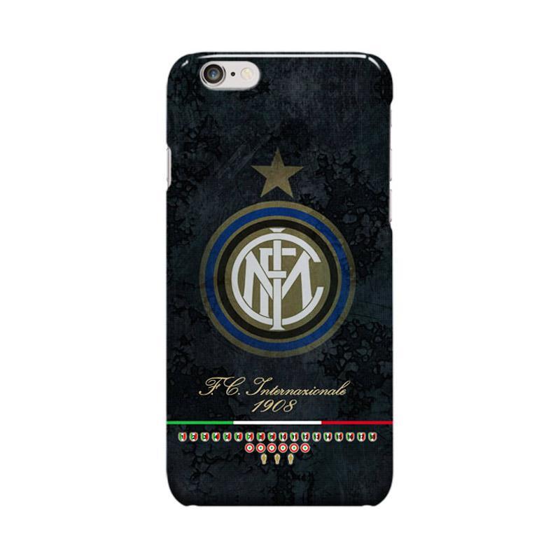Indocustomcase Inter Milan FC Logo IM04 Cover Casing for Apple Iphone 6 Plus or 6S Plus