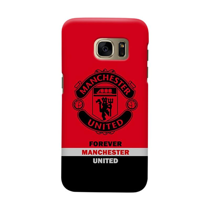 Indocustomcase Manchester United MANUFC09 Cover Casing for Samsung Galaxy S6 Edge