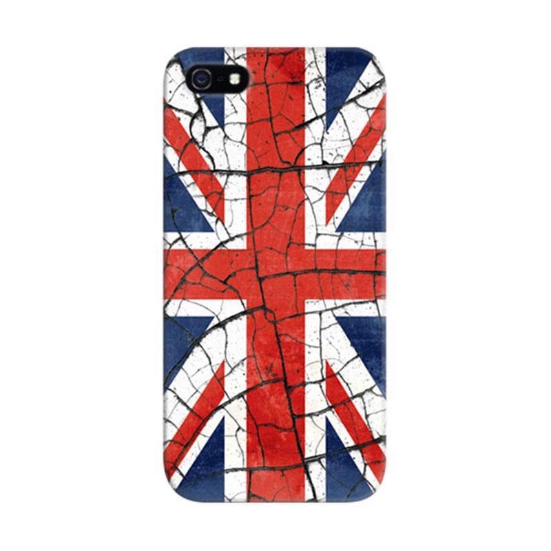 Indocustomcase Union Jack Peeling Paint Custom Hardcase Casing for Apple iPhone 5/5S/SE