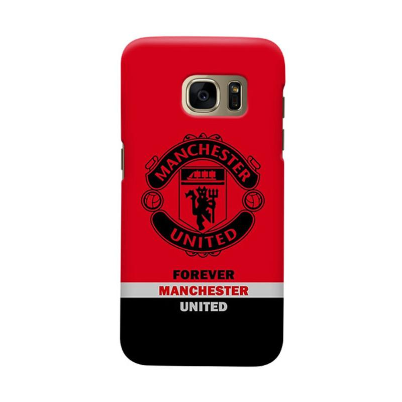 Indocustomcase Manchester United MANUFC09 Cover Casing for Samsung Galaxy S7 Edge