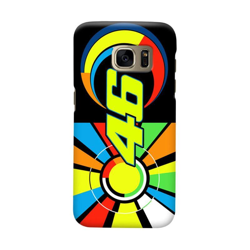 Indocustomcase Valentino Rossi Sun Moon 46 Casing for Samsung Galaxy S6