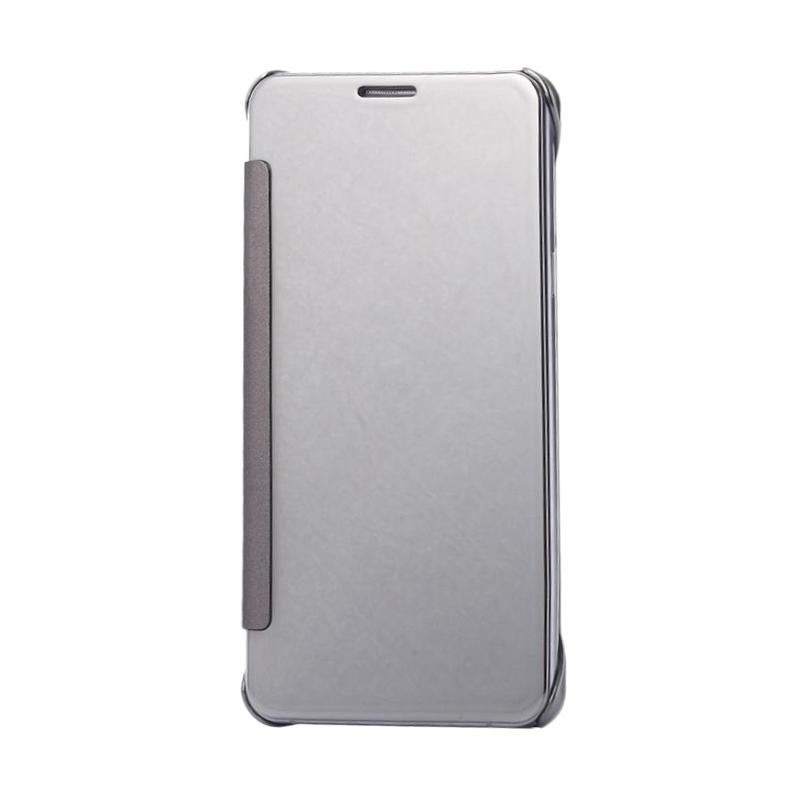 harga Case Mirror S View Hardcase Flip Cover Casing for Samsung Galaxy Note 4 - Silver Blibli.com