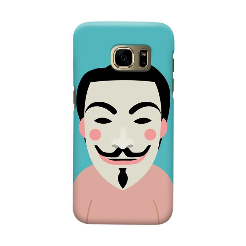 Indocustomcase Anonymous Mask Cartoon Cover Casing for Samsung Galaxy S7 Edge