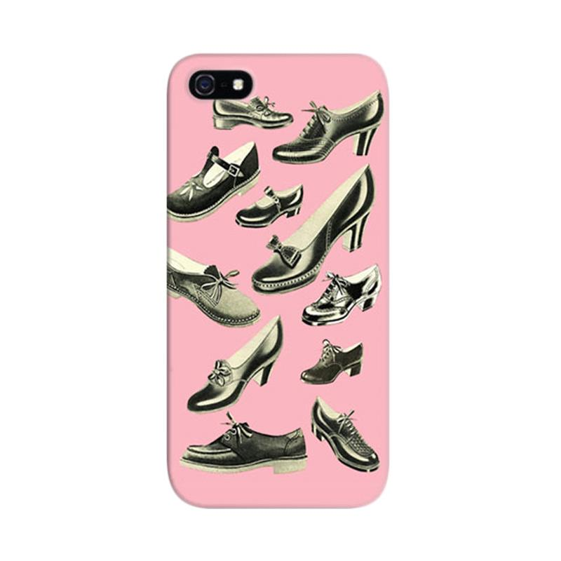 Indocustomcase Girls Shoes Collection Custom Hardcase Casing for Apple iPhone 5/5S/SE
