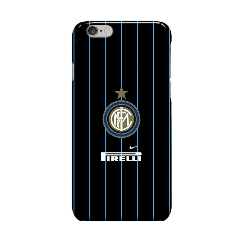 Indocustomcase Inter Milan FC Logo IM07 Cover Casing for Apple iPhone 6 Plus or 6S Plus