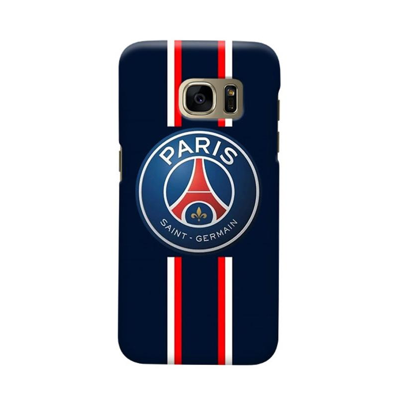 Indocustomcase Paris Saint Germain FC PSG04 Cover Casing for Samsung Galaxy S7 Edge