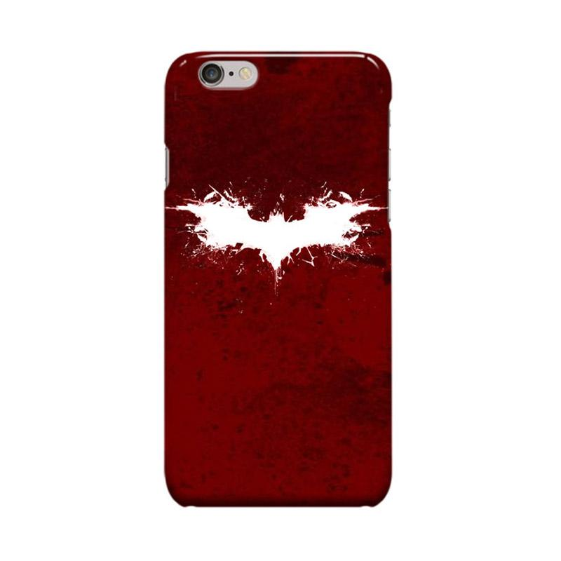 Indocustomcase Batman Grunge Logo Cover Casing for Apple iPhone 6 Plus or 6S Plus - Red