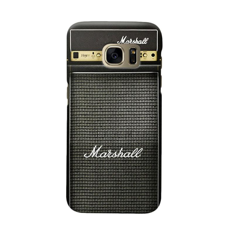 Indocustomcase Marshall Guitar Amplifier Cover Casing for Samsung Galaxy S6 Edge