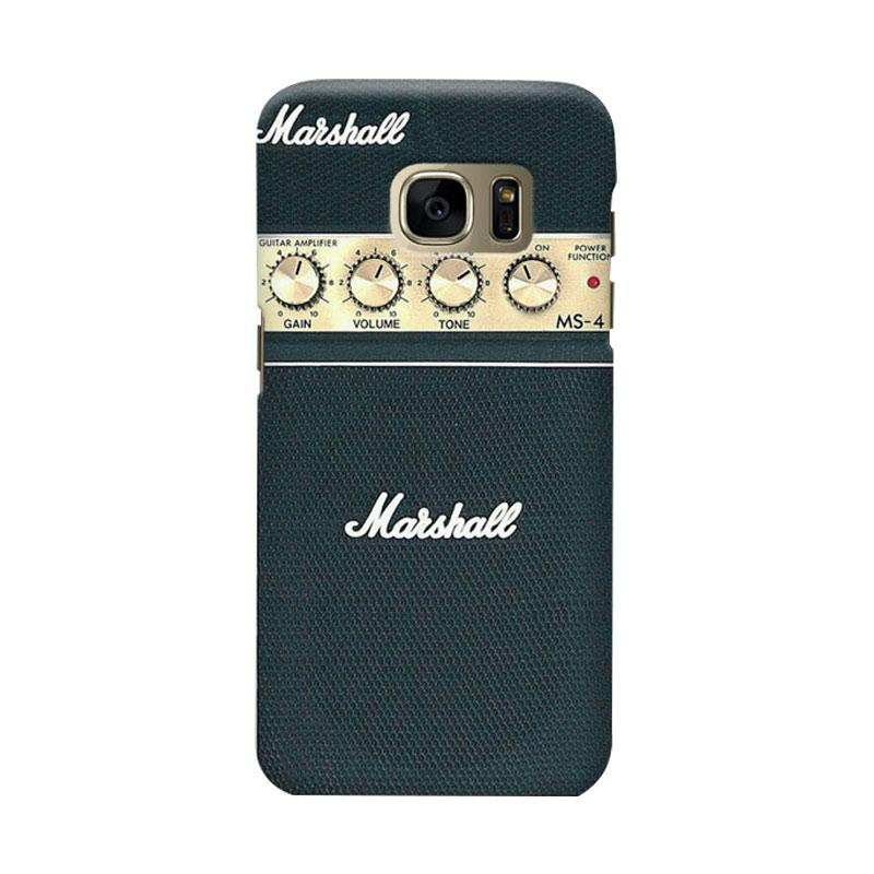 Indocustomcase Guitar Amplifier Marshall Cover Casing for Samsung Galaxy S7 Edge
