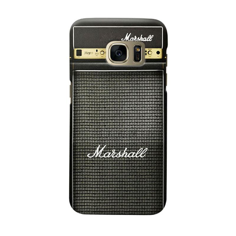 Indocustomcase Marshall Guitar Amplifier Cover Casing for Samsung Galaxy S7 Edge