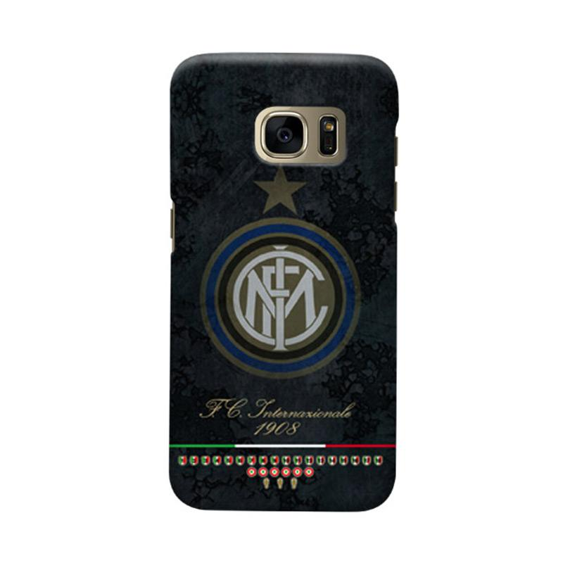 Indocustomcase FC internazionale Milan IM05 Cover Casing for Samsung Galaxy S7 Edge