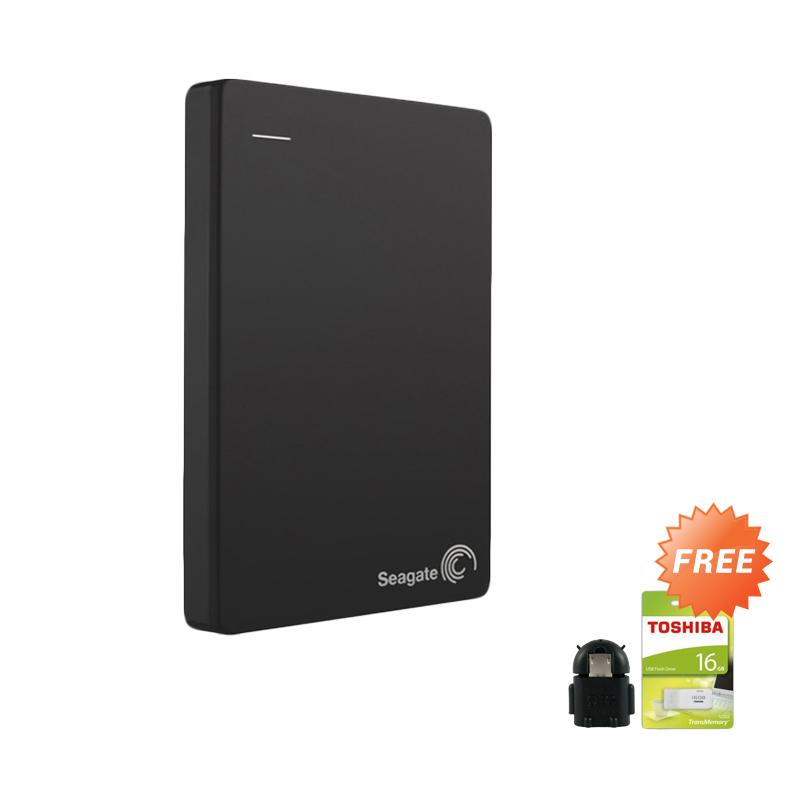 harga Seagate Backup Plus Slim Hardisk External - Hitam + Free Flashdisk 16GB Toshiba + OTG Android [1TB/ 2.5 Inch] Blibli.com