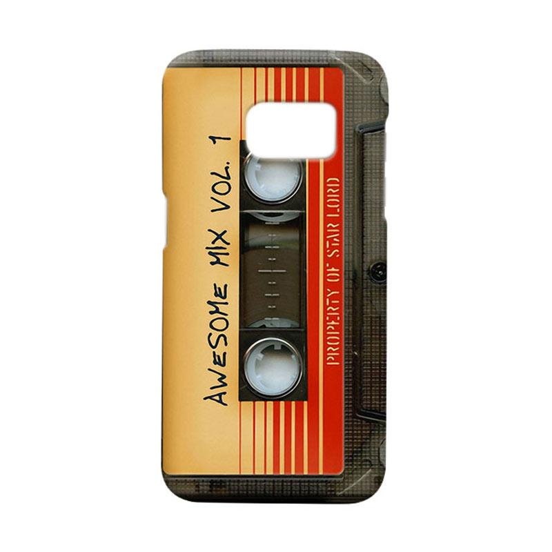 Indocustomcase Awesome Mix Vol 1 Cassette Cover Casing for Samsung Galaxy S7 Edge