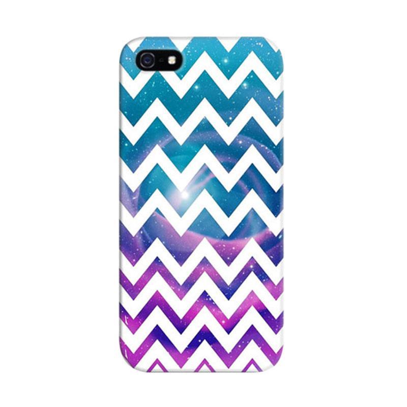 Indocustomcase Universal Chevron Geometry Custom Hardcase Casing for iPhone 5/5S/SE