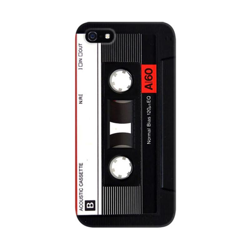 Indocustomcase Acoustic Cassette Custom Cover Hardcase Casing for Apple iPhone 5/5S/SE