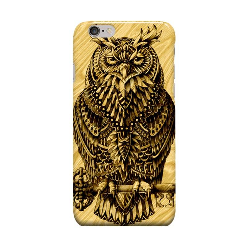 Indocustomcase Warrior Owl On Wood Cover Casing for Apple iPhone 6 Plus or 6S Plus