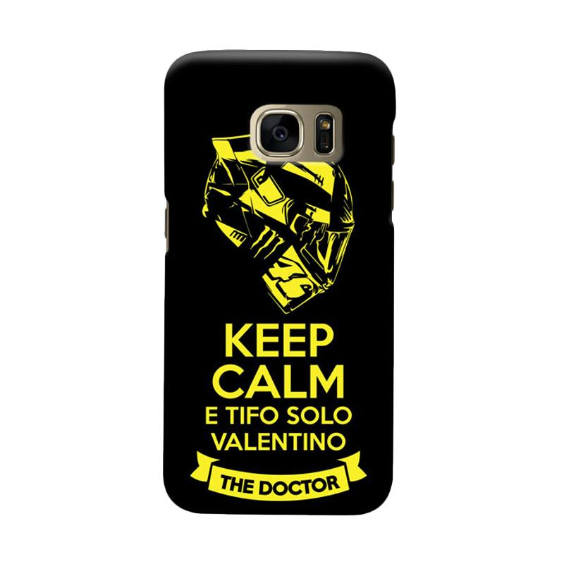Indocustomcase Keep Calm E Tifo Solo Valentino Cover Casing for Samsung Galaxy S7 Edge
