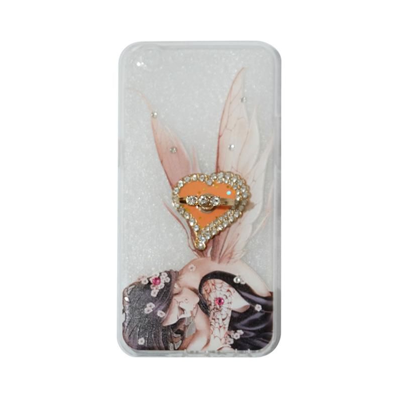 VR Softshell Swarovski Fairy 2 Ultrathin Silicone Softcase with Ring Stand Diamond Casing for Oppo A39