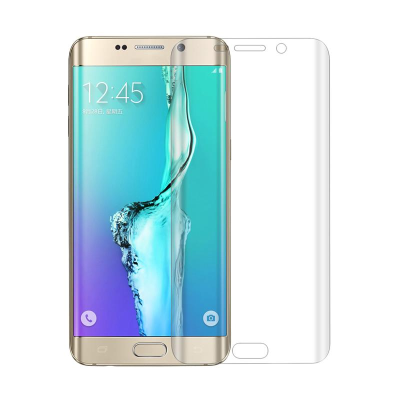 Tempered Glass Full Cover [3D] Screen Protector for Samsung Galaxy S6 Edge Plus - putih